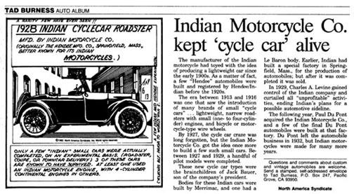 Indian Cycle car