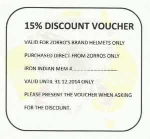 IRON INDIAN DISCOUNT VOUCHER